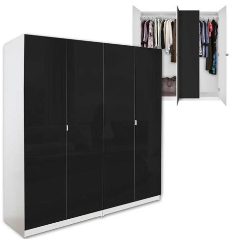 Black Wood Wardrobe Closet by Alta 4 Door Wardrobe Closet Basic Package Free Standing