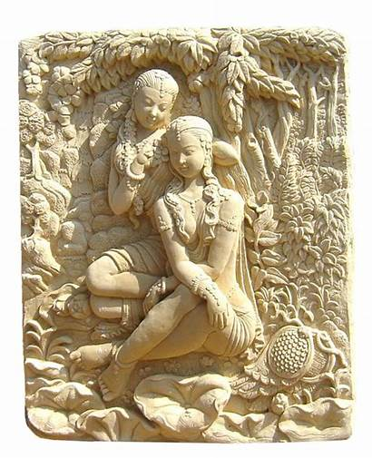 Statue Ideal Indoor Sandstone Carving Sculpture Both