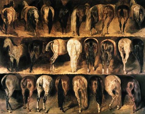 jean louis gericault horses hindquarters theodore gericault