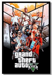 Grand Theft Auto 5 V GTA 5 Video Online Game Poster Print