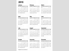2019 Yearly Calendar – FREE DOWNLOAD Cheetah Template