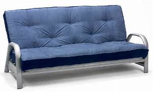 Oslo 3 seater metal futon sofa bed for Metal frame futon sofa bed
