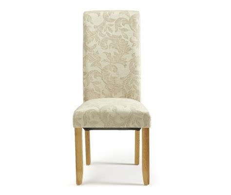 serene kingston floral fabric dining chairs with oak