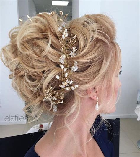 Beautiful messy updo wedding hairstyles perfect for any