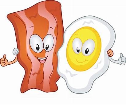 Cartoon Clipart Bacon Eggs Protein Brunch Ham