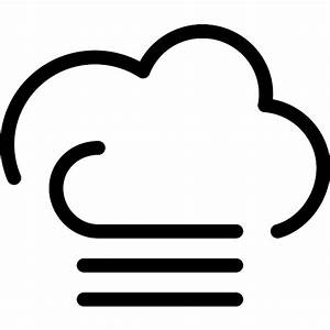 Cloudy foggy windy weather symbol - Free weather icons
