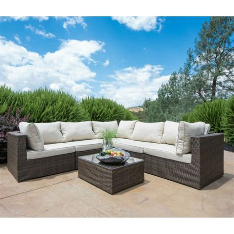supernova 6pc patio furniture rattan sofa outdoor wicker sectional ebay