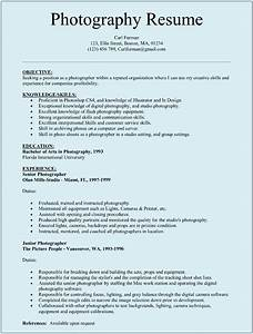 Technical Skills Cv Examples Photographer Resume Template For Microsoft Word Doc