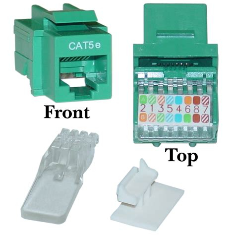 Ethernet Keystone Wiring by Green Cat5e Rj45 Keystone Toolless