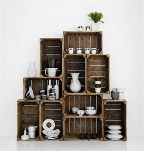 rangement vaisselle cuisine 1001 idées pour fabriquer une étagère en cagette soi même