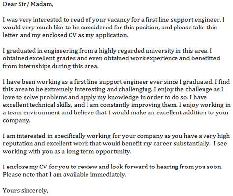 support engineer cover letter  learnistorg