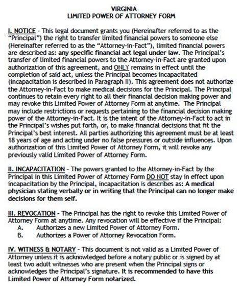 virginia power of attorney form pdf free limited power of attorney virginia form adobe pdf