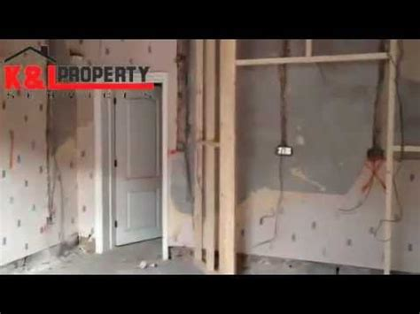 how to rewire a l first fix electrical on a house rewire youtube