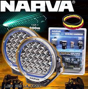 2x Narva Pair 9 Inch Led Driving Lights 71740 Ultima L E D