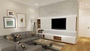 Fernseher Aufhängen Höhe : fernseher an wand montieren die eleganteste variante ~ Markanthonyermac.com Haus und Dekorationen