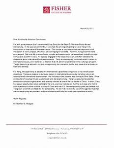 Ralph D Mershon Study Abroad Scholarship Remendation Letter