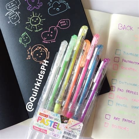 dong a my gel pastel pen set 7 shopee philippines