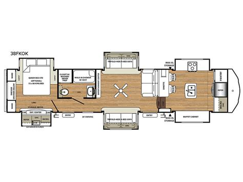 front kitchen rv floor plans new forest river rv 38fkok fifth wheel for 6758
