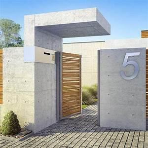 Cloture Maison Moderne : mur de cl ture 98 id es d 39 am nagement organisation ~ Melissatoandfro.com Idées de Décoration