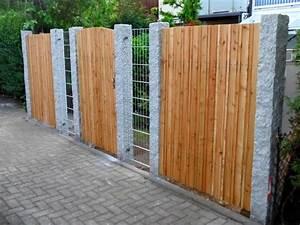 Welches Holz Für Gartenzaun : gartenzaun stein holz ~ Lizthompson.info Haus und Dekorationen