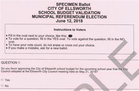 june election sample ballots city ellsworth maine