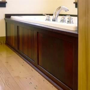 Reclaimed Wood Bathtub Surround - Traditional - Bathroom