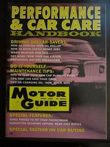 Motor Guide Performance  U0026 Car Car Handbook Magazine April