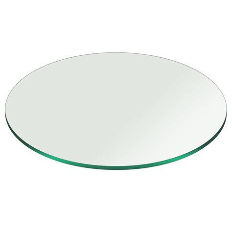 22 round glass table top glass table top 22 inch round pencil polish tempered