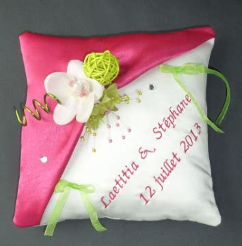 coussin alliance mariage personnalis 233
