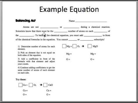 Balancing Act Worksheet Answers Worksheets For School Getadating