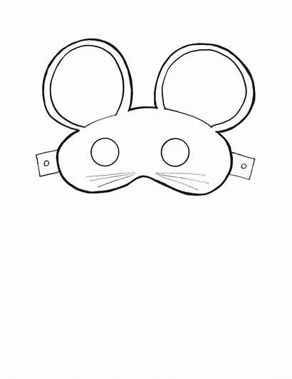 Mask Masks Basteln Template Printable Mouse Vorlagen