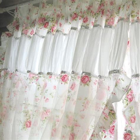 shabby chic bathroom curtain ideas shabby chic curtain