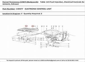Ferrari Part Number 130477 Electronic Control Unit
