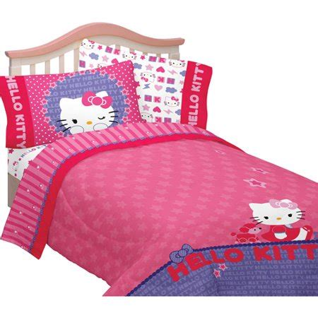 hello kitty twin comforter set hello microfiber reversible comforter walmart