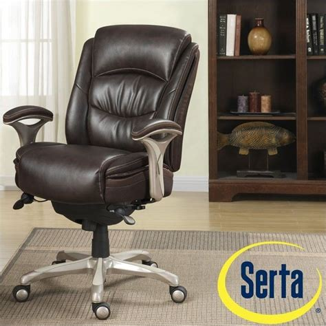 ergonomic leather manager office chair in brown 44953