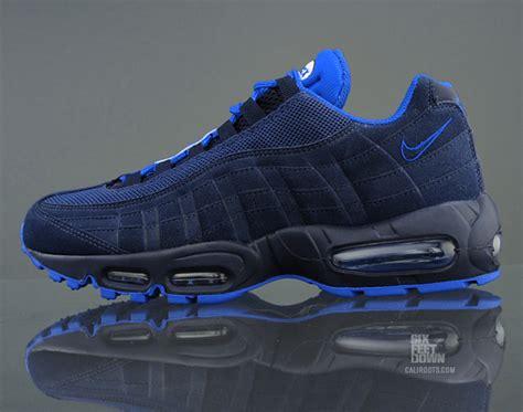 nike air max 95 navy blue soar blue sneakers addict