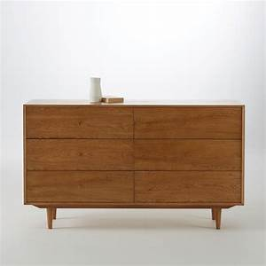 commode vintage en chene 6 tiroirs quilda soldes commode With meuble quilda