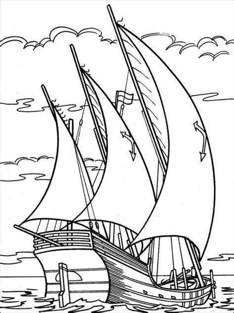 sailing ship coloring book pages - Google Search | Embroidery Patterns | Pinterest | Coloring