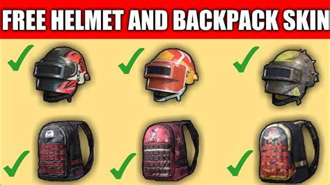 helmet  backpack skin  pubg mobile
