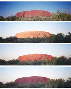 Uluru Rock Changing Colors
