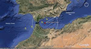 The primary Gibraltar Meteor Impact site, and the seismic circle that ...  Gibraltar