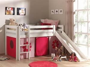 Echelle Pour Lit En Hauteur : lit mezzanine fille ~ Premium-room.com Idées de Décoration
