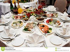 Festive Table Setting For Banquet Royalty Free Stock Photo