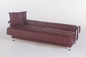 betsy santa glory burgundy sofa bed in pu by sunset With burgundy sofa bed