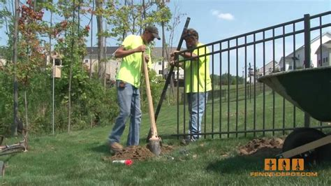 wrought iron gate aluminum fence how to install it