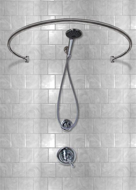 34 Wall Mount Circular   Shower Curtain Rod