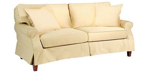 slipcovered skirted pillow  sleeper sofa