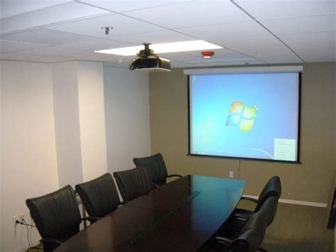 ceiling mounted projectors for conference rooms 100 quot hd luma 2 draper with auto return screen and ceiling