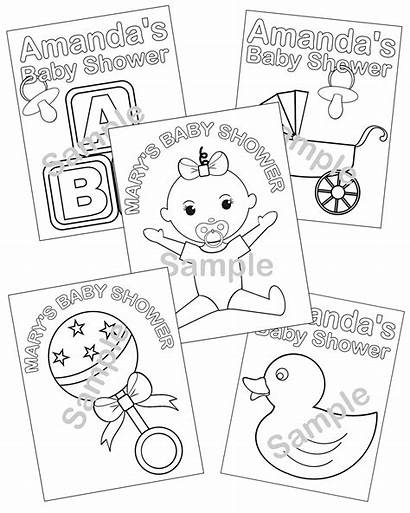 Shower Coloring Pages Printable Printables Personalized Activity