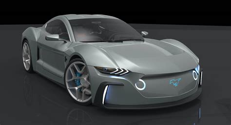 ford mustang electric study envisions muscle car